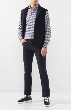 Мужской хлопковые брюки JACOB COHEN темно-синего цвета, арт. J620 C0MF 06510-V/53 | Фото 2