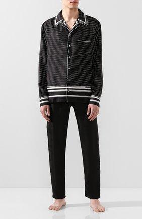 Мужская шелковая сорочка DOLCE & GABBANA черно-белого цвета, арт. G5GY4T/FI1KF | Фото 2