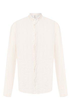 Мужская рубашка из льна и хлопка TRANSIT бежевого цвета, арт. CFUTRKT292 | Фото 1