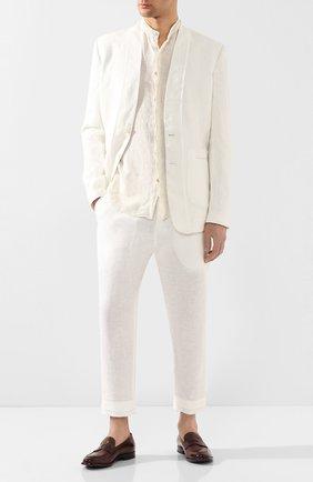 Мужская рубашка из льна и хлопка TRANSIT бежевого цвета, арт. CFUTRKT292 | Фото 2