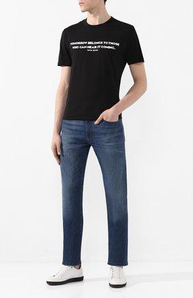 Мужские джинсы BOSS синего цвета, арт. 50427410   Фото 2