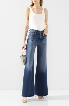 Женские расклешенные джинсы FRAME DENIM синего цвета, арт. LPP204 | Фото 2