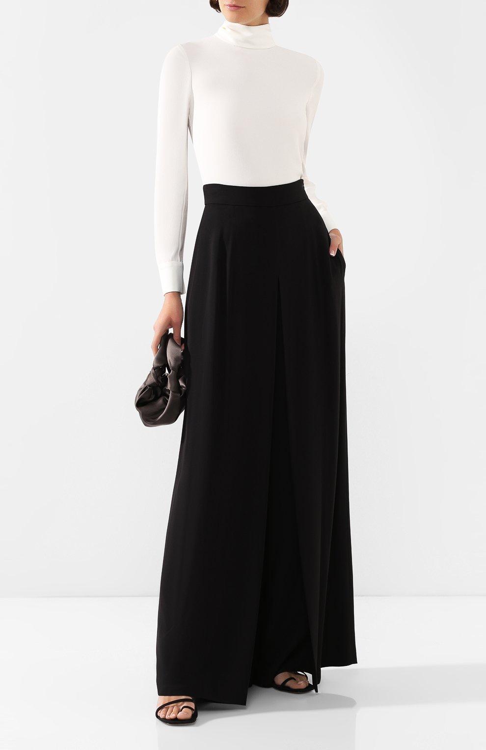 Женская блузка ADAM LIPPES белого цвета, арт. R20117SB   Фото 2 (Рукава: Длинные; Принт: Без принта; Материал внешний: Синтетический материал; Длина (для топов): Стандартные; Стили: Классический; Силуэт Ж (для верхов): Приталенный; Женское Кросс-КТ: Блуза-одежда; Статус проверки: Проверена категория)