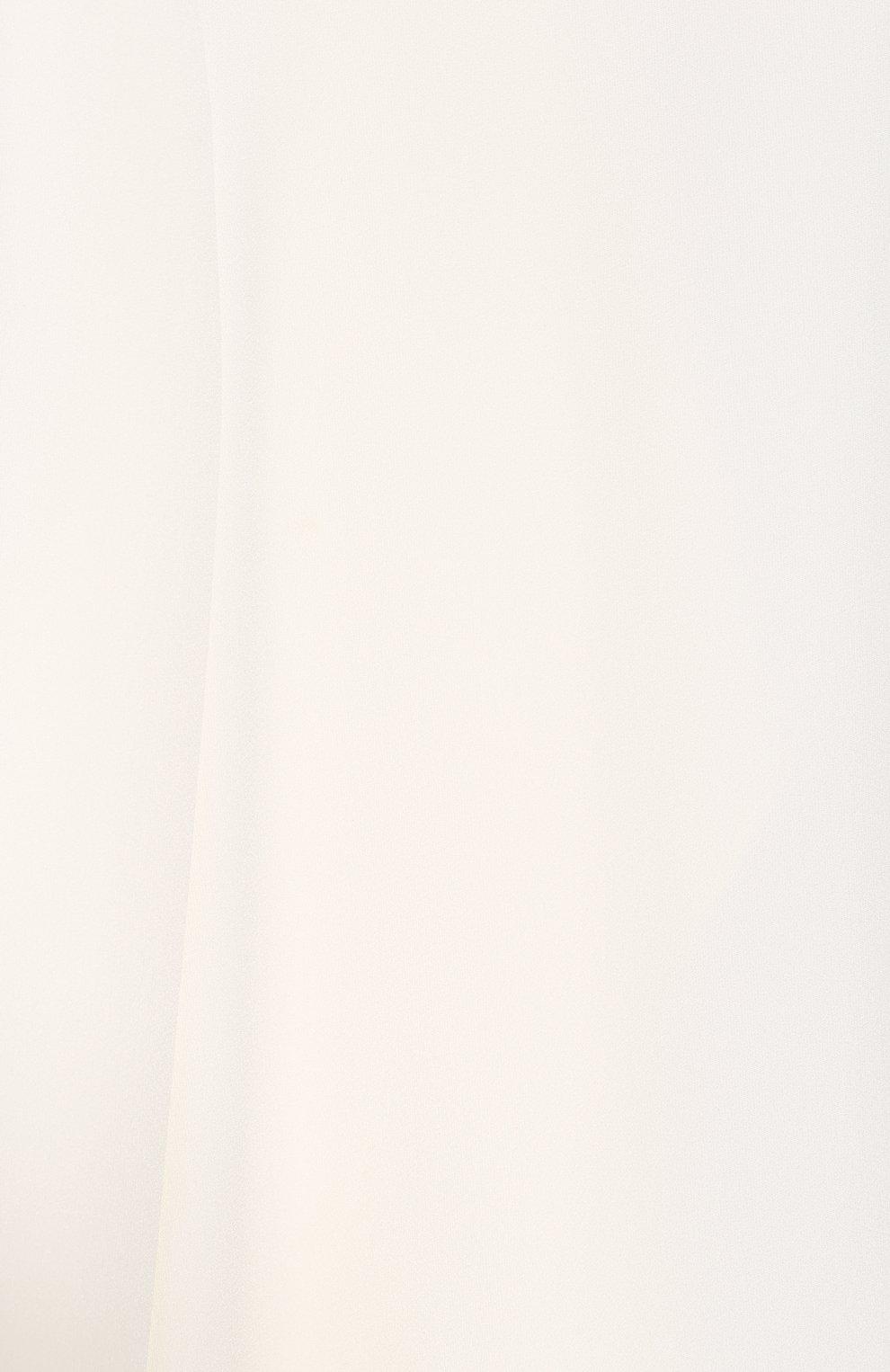 Женская блузка ADAM LIPPES белого цвета, арт. R20117SB   Фото 5 (Рукава: Длинные; Принт: Без принта; Материал внешний: Синтетический материал; Длина (для топов): Стандартные; Стили: Классический; Силуэт Ж (для верхов): Приталенный; Женское Кросс-КТ: Блуза-одежда; Статус проверки: Проверена категория)