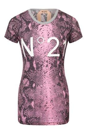 Женская футболка N21 розового цвета, арт. 20E N2M0/F031/4810 | Фото 1