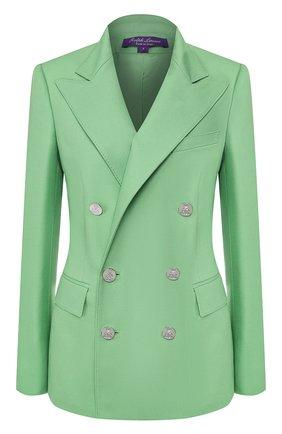 Женский кашемировый жакет RALPH LAUREN зеленого цвета, арт. 290625543 | Фото 1