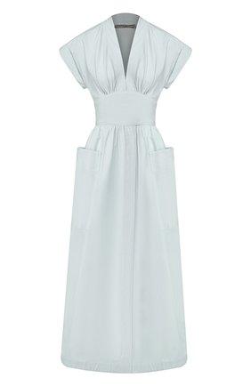 Женское льняное платье THREE GRACES голубого цвета, арт. TGL DR6063   Фото 1