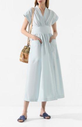 Женское льняное платье THREE GRACES голубого цвета, арт. TGL DR6063   Фото 2