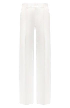 Женские брюки из смеси хлопка и льна JOSEPH белого цвета, арт. JP000852 | Фото 1