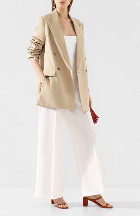 Женские брюки из смеси хлопка и льна JOSEPH белого цвета, арт. JP000852 | Фото 2