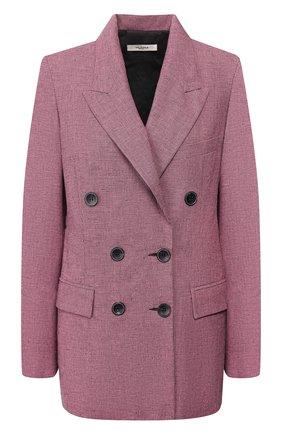 Женский жакет из смеси хлопка и льна ISABEL MARANT ETOILE розового цвета, арт. VE1189-20P011E/LINYA   Фото 1