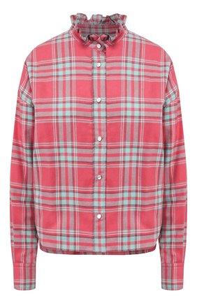 Женская хлопковая рубашка ISABEL MARANT ETOILE красного цвета, арт. CH0544-20P064E/ILARIA   Фото 1