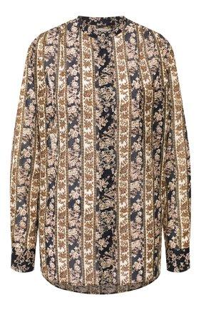 Женская хлопковая рубашка ISABEL MARANT ETOILE темно-синего цвета, арт. CH0238-20P079E/MEXIKA   Фото 1