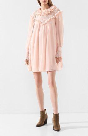 Женское платье PHILOSOPHY DI LORENZO SERAFINI розового цвета, арт. A0422/717 | Фото 2