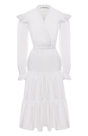 Женское хлопковое платье PHILOSOPHY DI LORENZO SERAFINI белого цвета, арт. A0455/726 | Фото 1