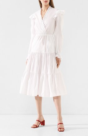 Женское хлопковое платье PHILOSOPHY DI LORENZO SERAFINI белого цвета, арт. A0455/726 | Фото 2