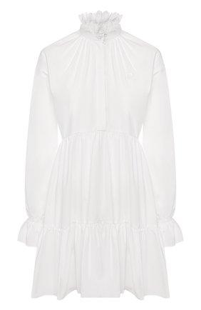 Женское хлопковое платье PHILOSOPHY DI LORENZO SERAFINI белого цвета, арт. A0458/726 | Фото 1