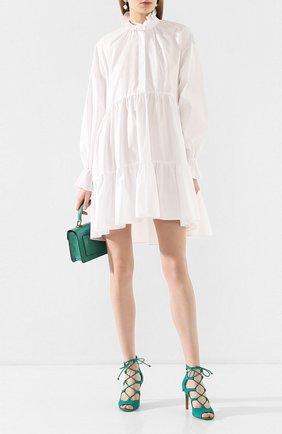 Женское хлопковое платье PHILOSOPHY DI LORENZO SERAFINI белого цвета, арт. A0458/726 | Фото 2