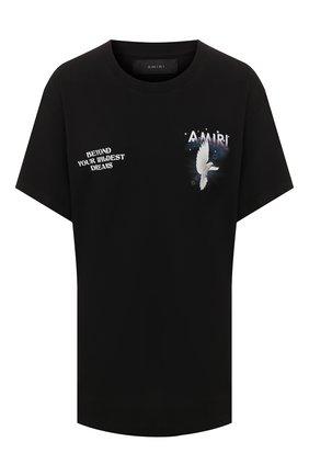 Женская хлопковая футболка AMIRI черного цвета, арт. Y0W03344CJ | Фото 1