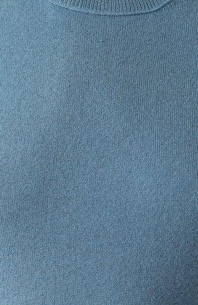 Женский пуловер из смеси кашемира и шелка ALEXANDRA GOLOVANOFF голубого цвета, арт. KAWAI MANCHES L0NGUES | Фото 5 (Материал внешний: Шерсть, Шелк, Кашемир; Рукава: Длинные; Длина (для топов): Стандартные; Стили: Классический, Минимализм, Кэжуэл; Женское Кросс-КТ: Пуловер-одежда; Статус проверки: Проверена категория)
