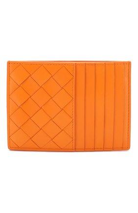 Женский кожаный футляр для кредитных карт BOTTEGA VENETA оранжевого цвета, арт. 608088/VCPP3 | Фото 1