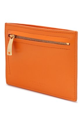 Женский кожаный футляр для кредитных карт BOTTEGA VENETA оранжевого цвета, арт. 608088/VCPP3 | Фото 2