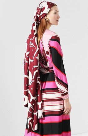Женская шелковая повязка на голову VALENTINO бордового цвета, арт. TW2EH006/TGW | Фото 2
