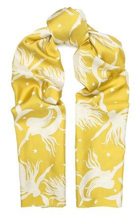 Женская шелковая повязка на голову VALENTINO желтого цвета, арт. TW2EH006/TGW | Фото 1