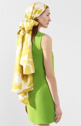 Женская шелковая повязка на голову VALENTINO желтого цвета, арт. TW2EH006/TGW | Фото 2