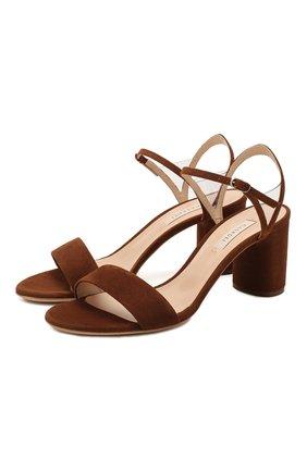 Женские замшевые босоножки CASADEI коричневого цвета, арт. 1L495P0601T01192608 | Фото 1