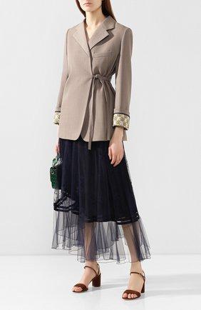 Женские замшевые босоножки CASADEI коричневого цвета, арт. 1L495P0601T01192608 | Фото 2