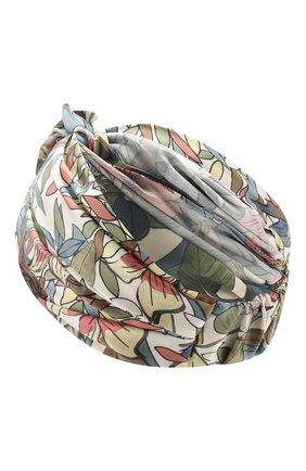 Женская шелковая повязка на голову INVERNI разноцветного цвета, арт. 4824FT | Фото 2