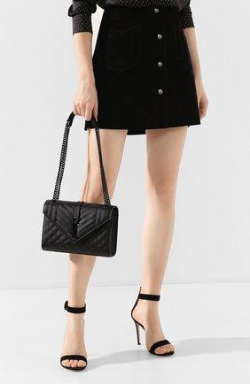 Женская сумка envelope medium SAINT LAURENT черного цвета, арт. 600185/B0W98 | Фото 2