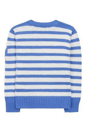 Детский хлопковый пуловер POLO RALPH LAUREN голубого цвета, арт. 312787234 | Фото 2