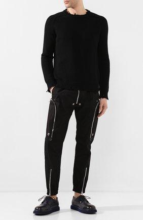 Мужской кожаные дерби MARSELL темно-синего цвета, арт. MMG353P/PELLE V0L0NATA | Фото 2