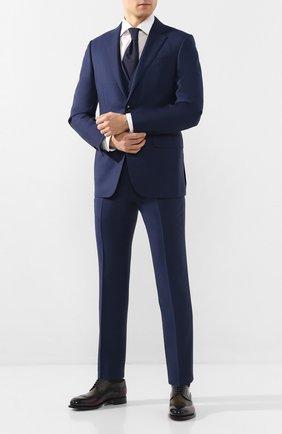 Мужской кожаные дерби SANTONI разноцветного цвета, арт. MCC017026MC3HNGCN70 | Фото 2