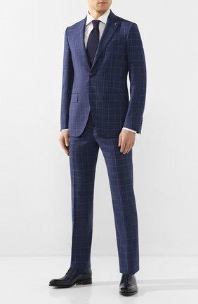 Мужские кожаные оксфорды SANTONI темно-синего цвета, арт. MCCR16229MC1HVVDU32   Фото 2