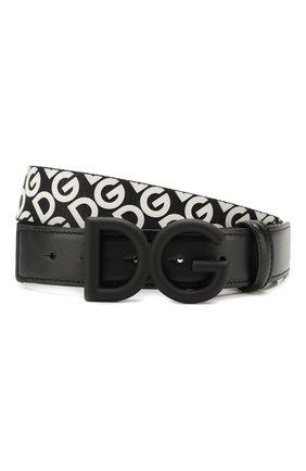 Мужской комбинированный ремень DOLCE & GABBANA черно-белого цвета, арт. BC4345/AJ834 | Фото 1
