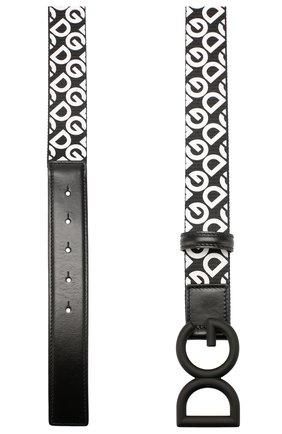 Мужской комбинированный ремень DOLCE & GABBANA черно-белого цвета, арт. BC4345/AJ834 | Фото 2