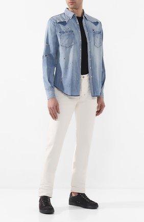 Мужская джинсовая рубашка SAINT LAURENT голубого цвета, арт. 601702/Y880G | Фото 2