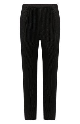 Мужской шерстяные брюки SAINT LAURENT черного цвета, арт. 596936/Y1A89 | Фото 1