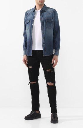 Мужская джинсовая рубашка SAINT LAURENT синего цвета, арт. 498101/Y880L | Фото 2