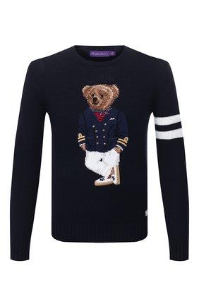 Мужской кашемировый свитер RALPH LAUREN темно-синего цвета, арт. 790787791 | Фото 1