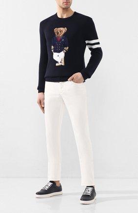 Мужской кашемировый свитер RALPH LAUREN темно-синего цвета, арт. 790787791 | Фото 2