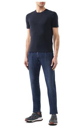 Мужская футболка TOM FORD темно-синего цвета, арт. BU229/TFJ950   Фото 2