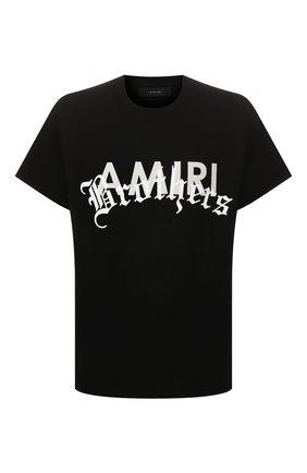 Мужская хлопковая футболка AMIRI черного цвета, арт. Y0M03346CJ | Фото 1