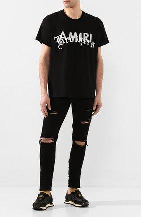 Мужская хлопковая футболка AMIRI черного цвета, арт. Y0M03346CJ | Фото 2