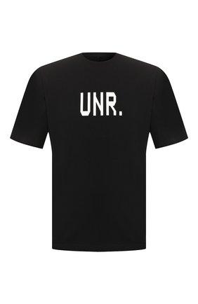 Мужская хлопковая футболка BEN TAVERNITI UNRAVEL PROJECT черного цвета, арт. UMAA004S20JER0011037 | Фото 1