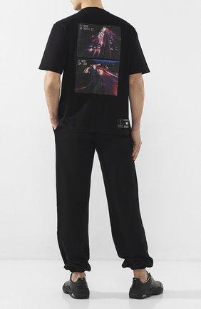 Мужская хлопковая футболка BEN TAVERNITI UNRAVEL PROJECT черного цвета, арт. UMAA004S20JER0011037 | Фото 2