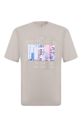 Мужская хлопковая футболка BEN TAVERNITI UNRAVEL PROJECT серого цвета, арт. UMAA004S20JER0020945 | Фото 1